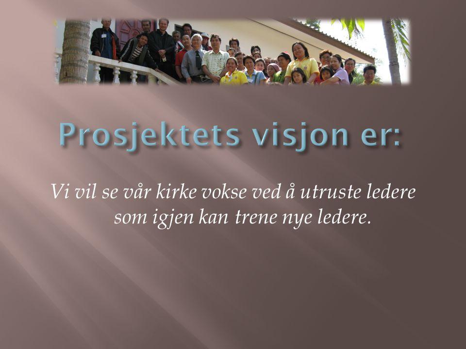 Prosjektets visjon er: