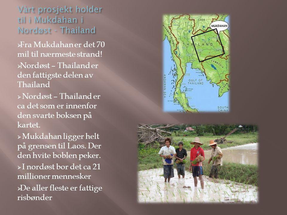 Vårt prosjekt holder til i Mukdahan i Nordøst - Thailand