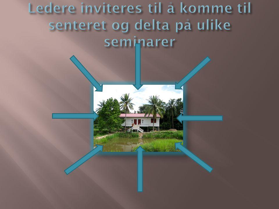 Ledere inviteres til å komme til senteret og delta på ulike seminarer
