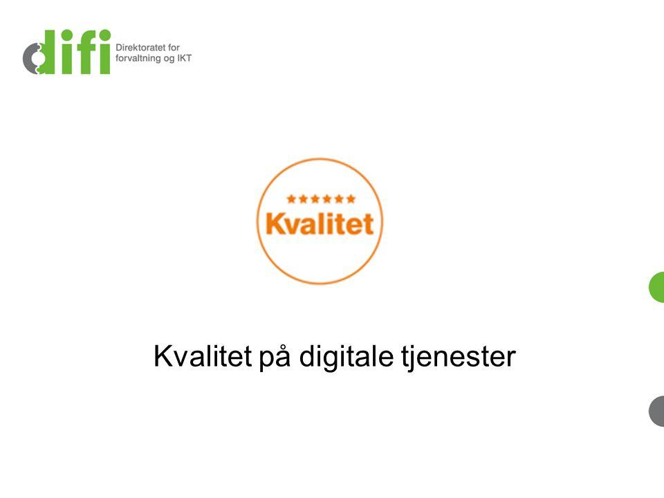 Kvalitet på digitale tjenester