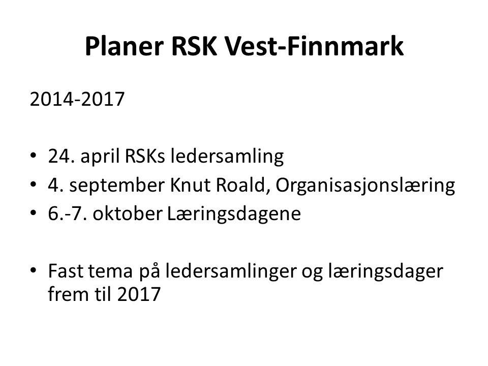 Planer RSK Vest-Finnmark