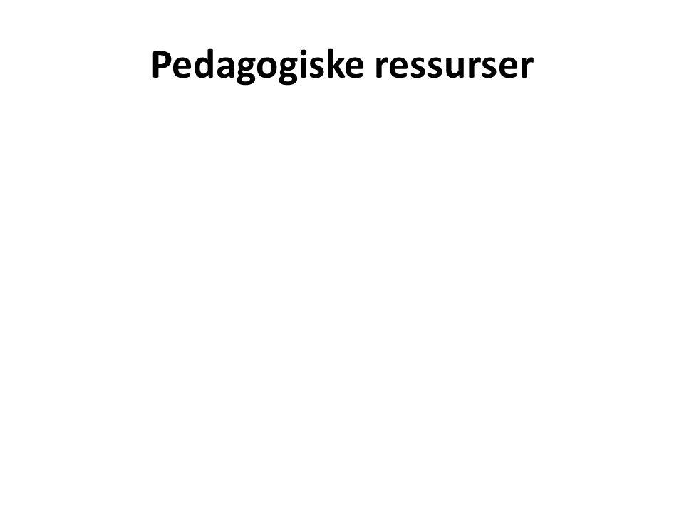 Pedagogiske ressurser