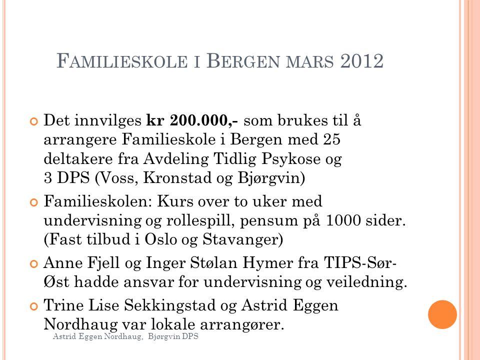 Familieskole i Bergen mars 2012