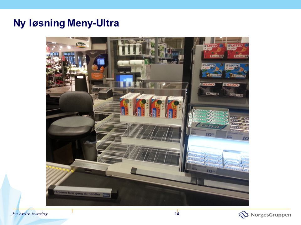 Ny løsning Meny-Ultra