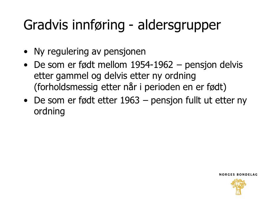 Gradvis innføring - aldersgrupper