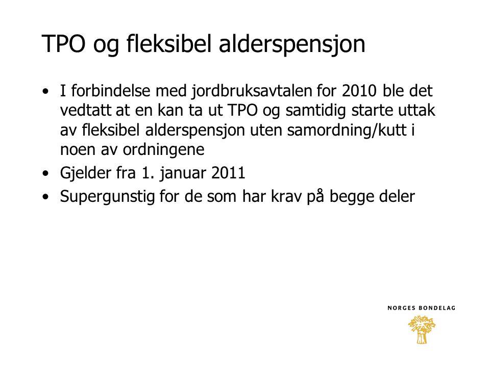 TPO og fleksibel alderspensjon