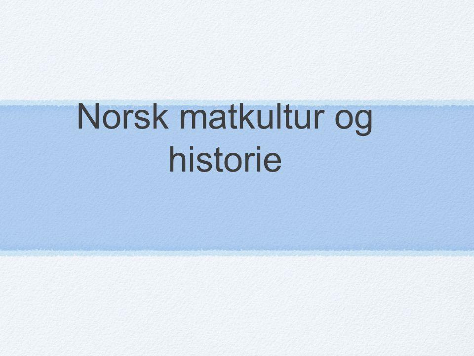 Norsk matkultur og historie
