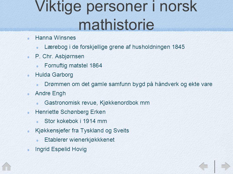 Viktige personer i norsk mathistorie
