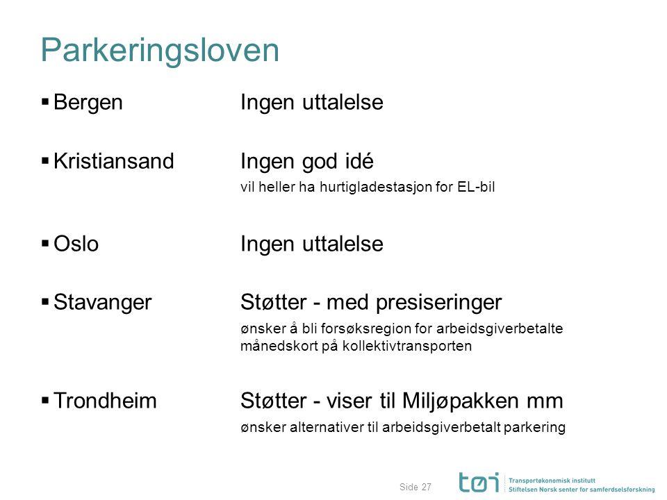 Parkeringsloven Bergen Ingen uttalelse