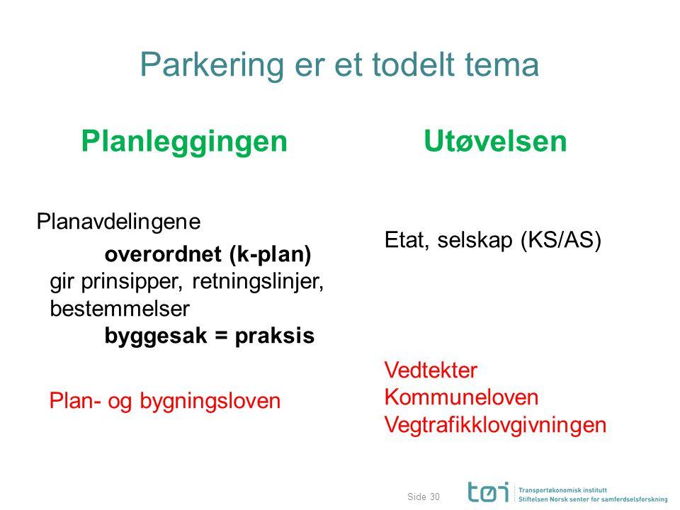 Parkering er et todelt tema