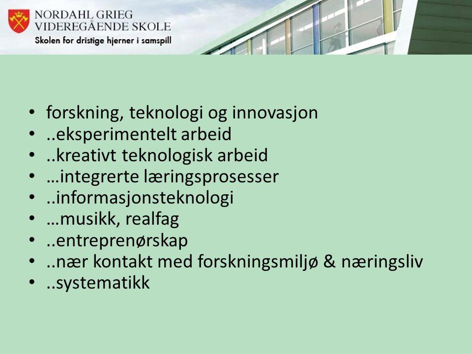 forskning, teknologi og innovasjon