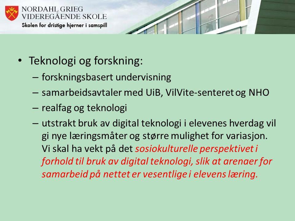 Teknologi og forskning: