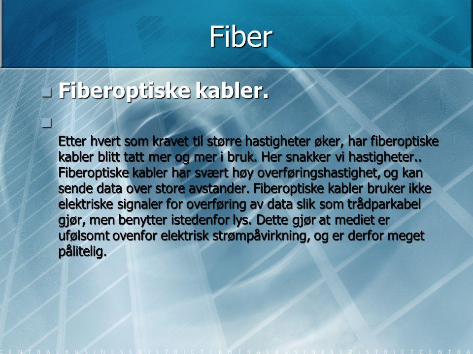 Fiber Fiberoptiske kabler.