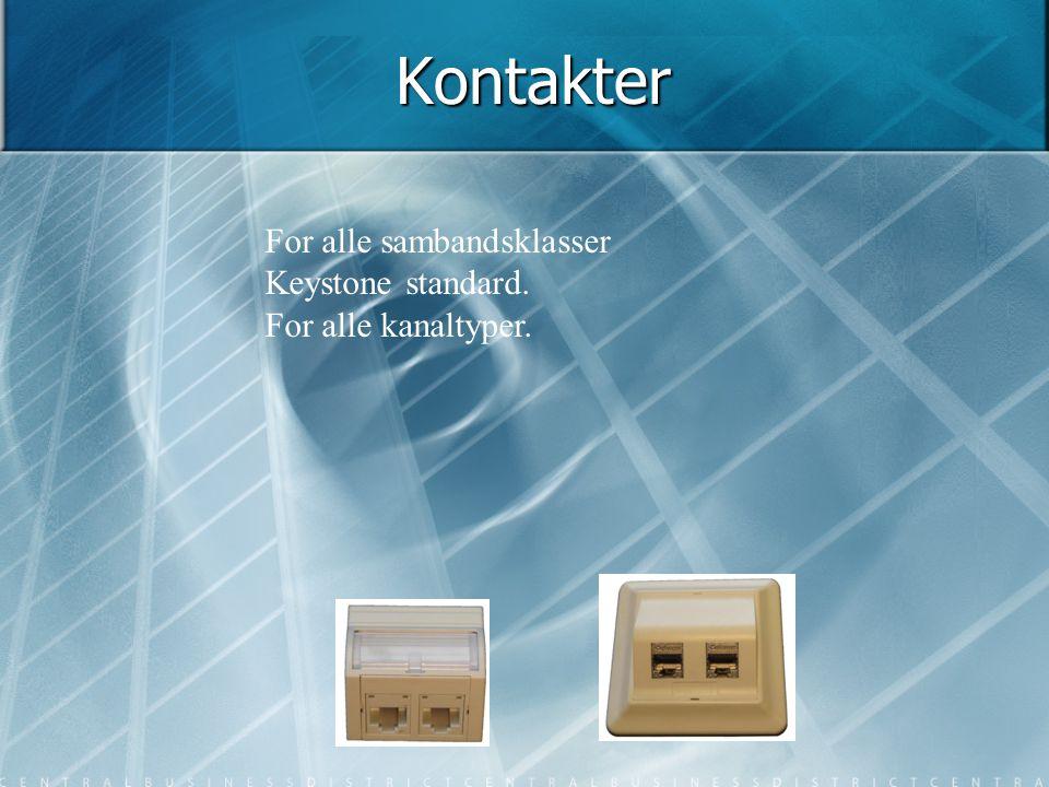 Kontakter For alle sambandsklasser Keystone standard.