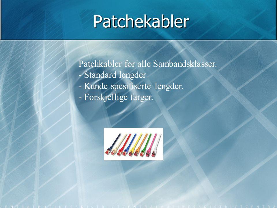 Patchekabler Patchkabler for alle Sambandsklasser. - Standard lengder