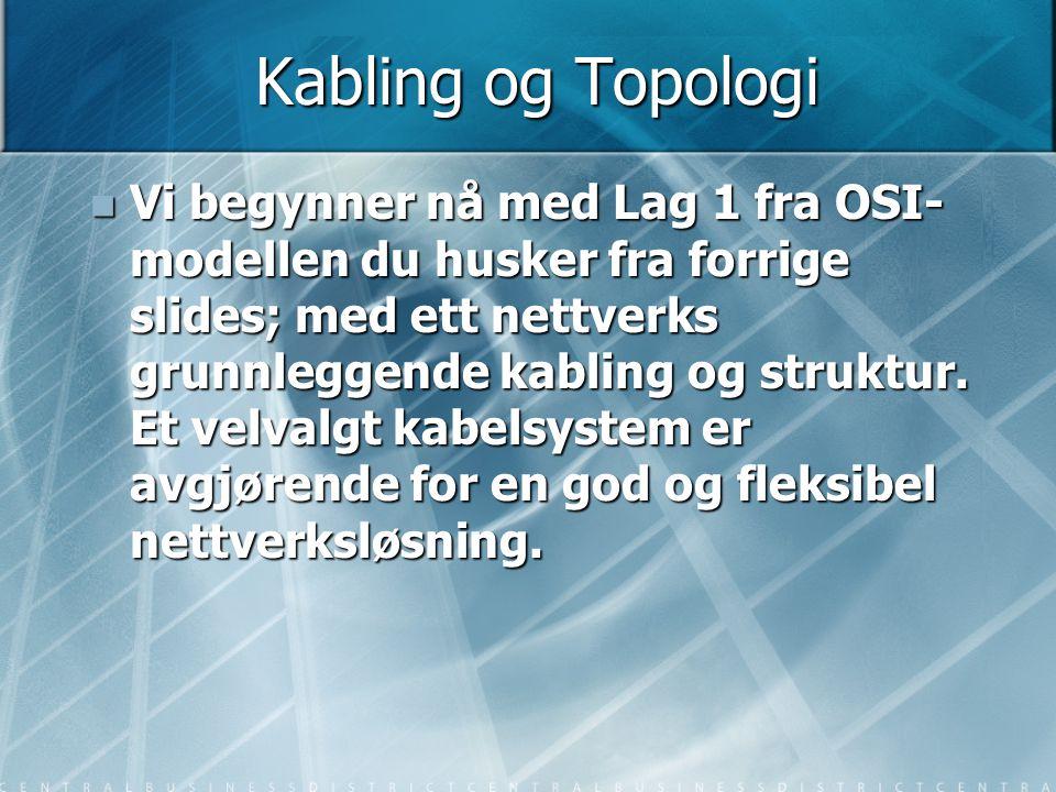 Kabling og Topologi