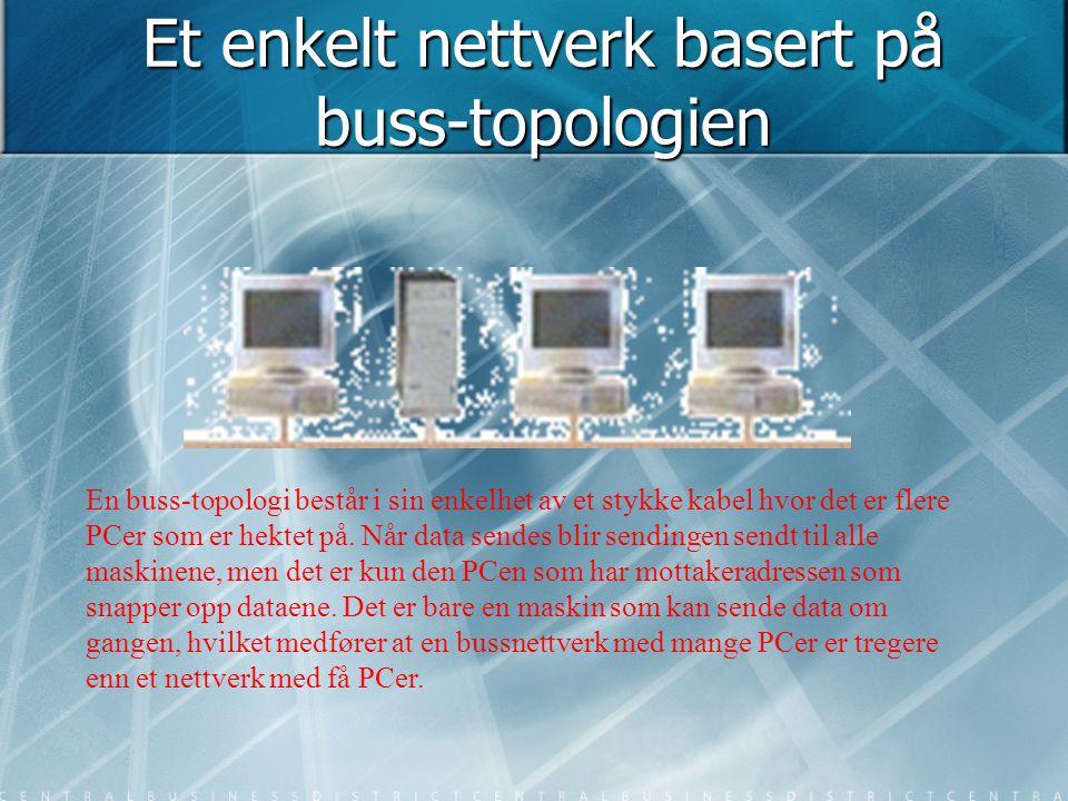 Et enkelt nettverk basert på buss-topologien