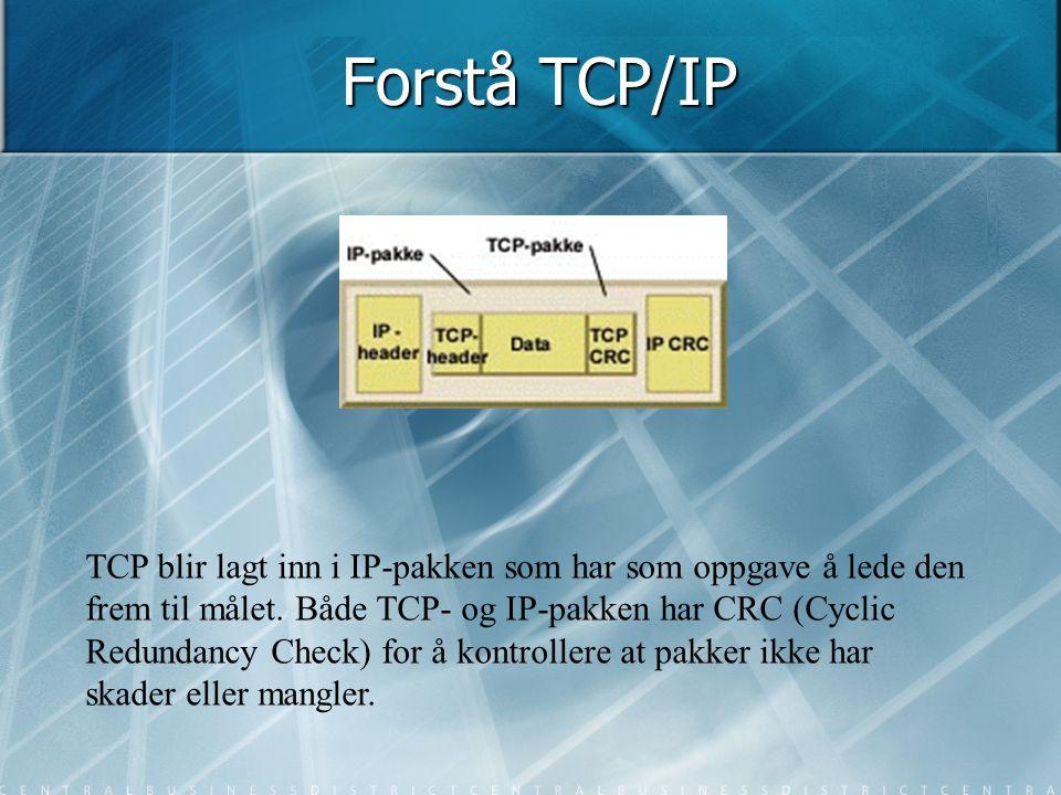 Forstå TCP/IP