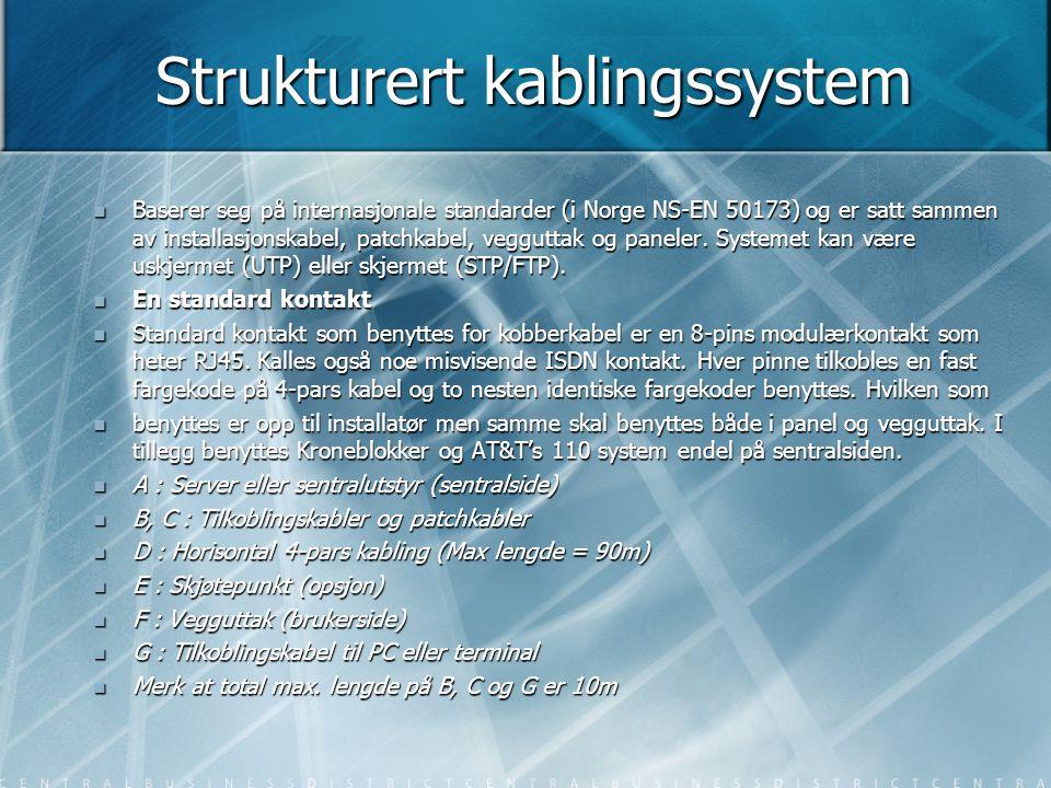 Strukturert kablingssystem