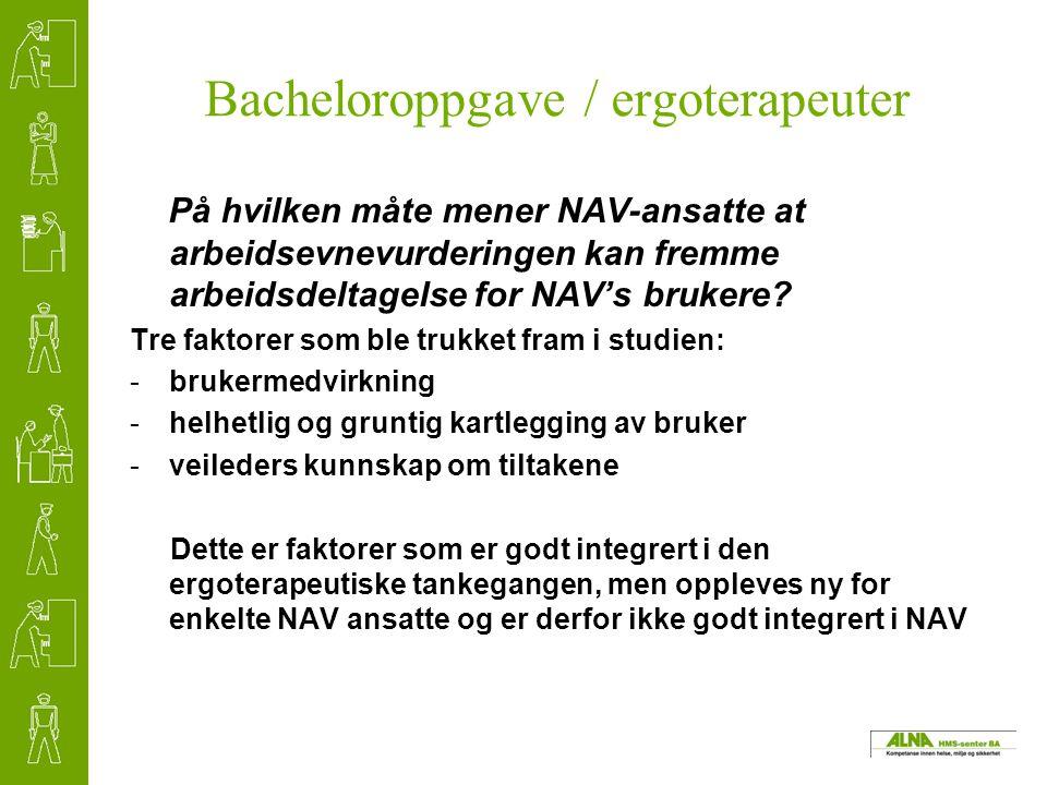Bacheloroppgave / ergoterapeuter