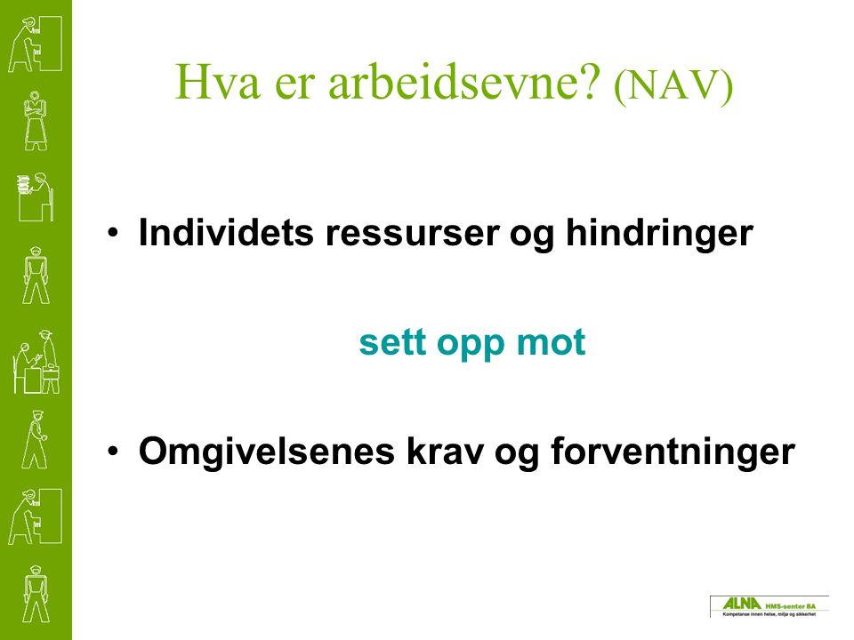 Hva er arbeidsevne (NAV)