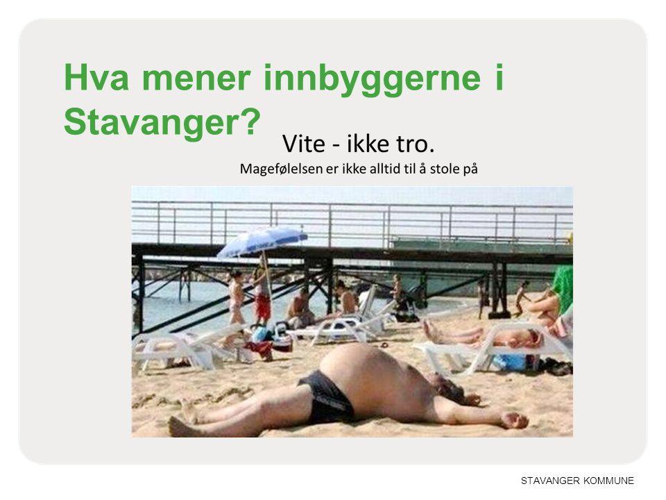 Hva mener innbyggerne i Stavanger