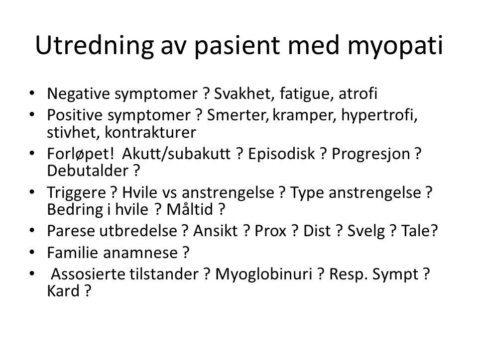 Utredning av pasient med myopati