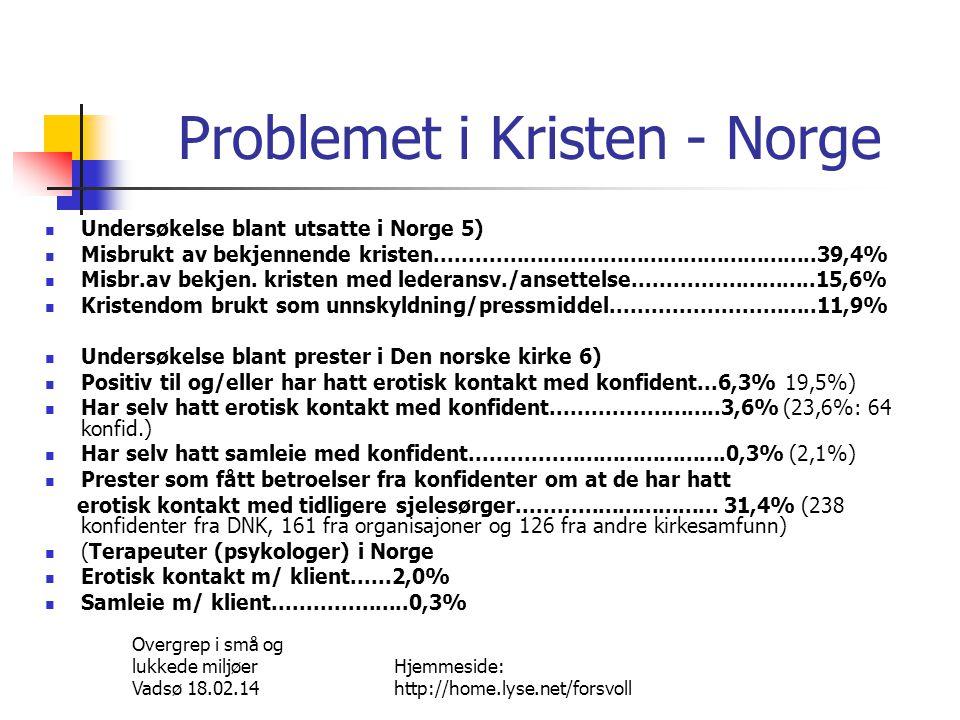 Problemet i Kristen - Norge