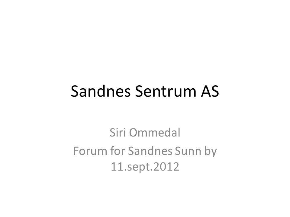 Siri Ommedal Forum for Sandnes Sunn by 11.sept.2012