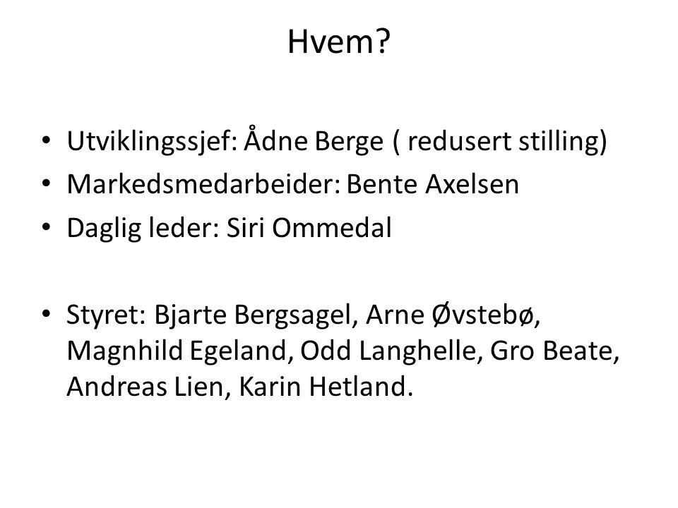 Hvem Utviklingssjef: Ådne Berge ( redusert stilling)