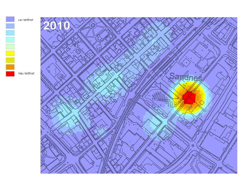 Lav tetthet Høy tetthet 2010 2003