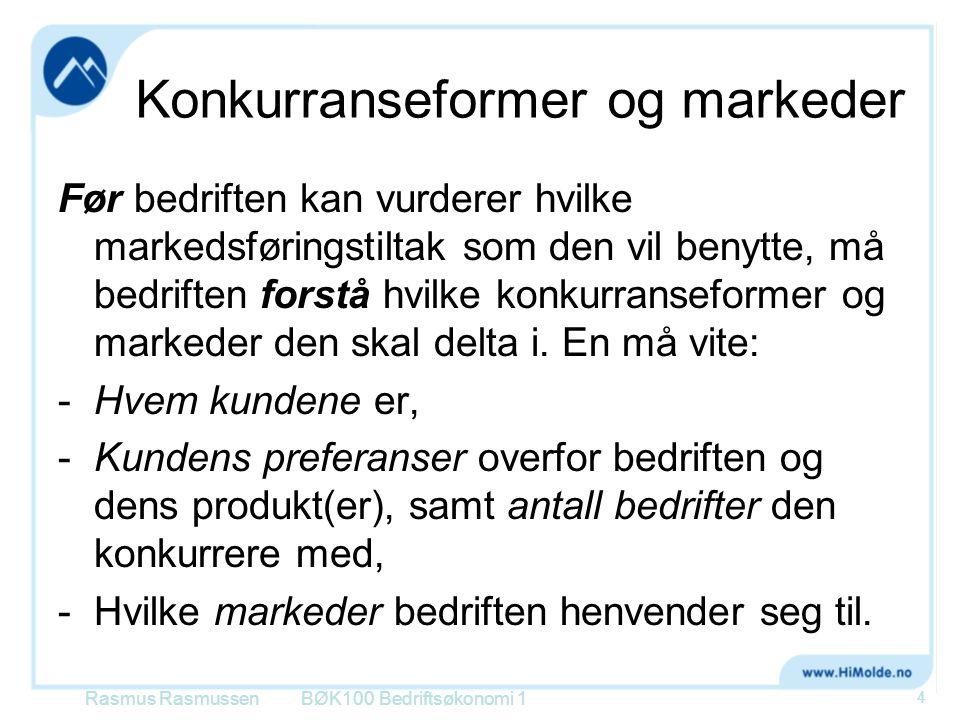 Konkurranseformer og markeder