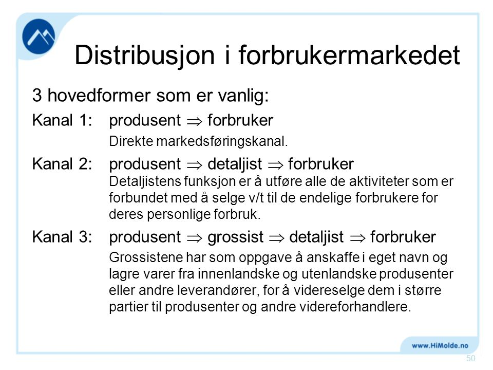 Distribusjon i forbrukermarkedet