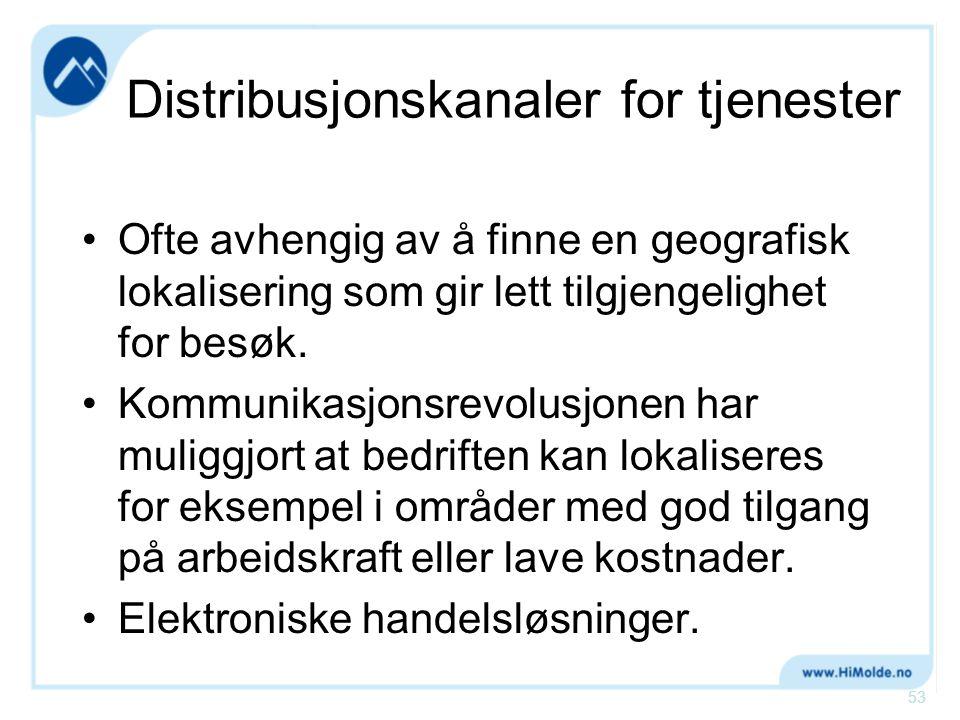 Distribusjonskanaler for tjenester