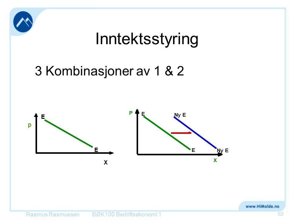 Inntektsstyring 3 Kombinasjoner av 1 & 2 p E X Rasmus Rasmussen