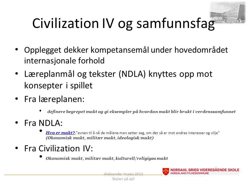 Civilization IV og samfunnsfag