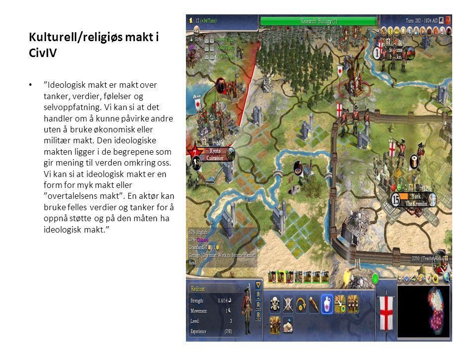 Kulturell/religiøs makt i CivIV