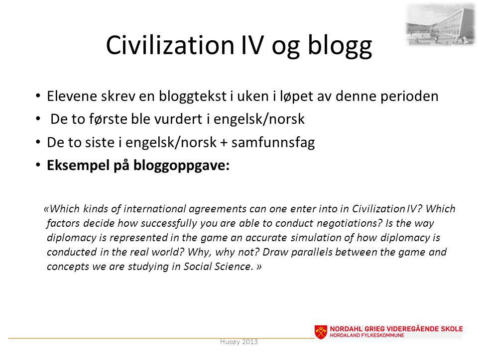 Civilization IV og blogg