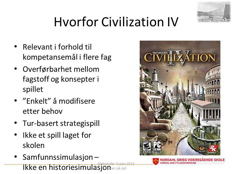 Hvorfor Civilization IV