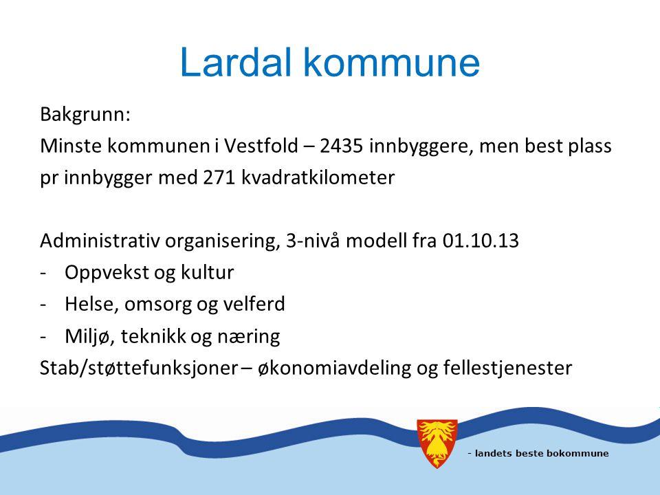 Lardal kommune Bakgrunn: