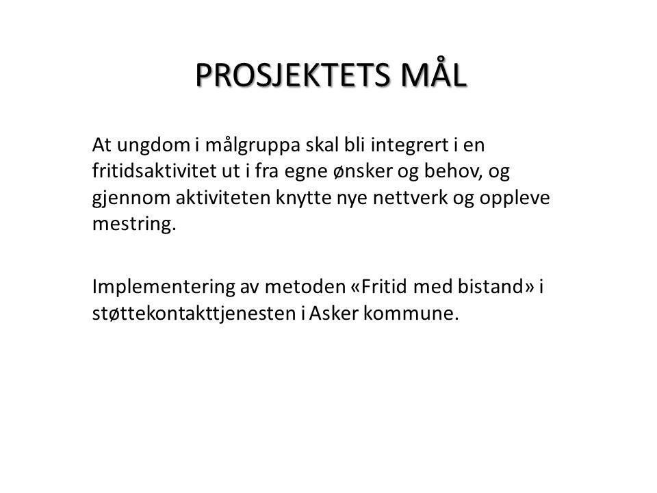 PROSJEKTETS MÅL