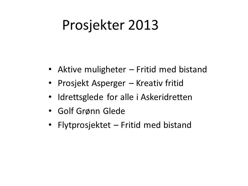 Prosjekter 2013 Aktive muligheter – Fritid med bistand