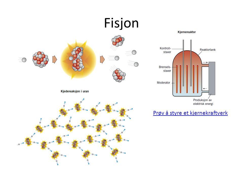 Fisjon Prøv å styre et kjernekraftverk