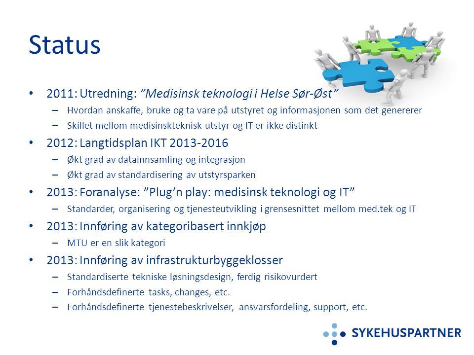 Status 2011: Utredning: Medisinsk teknologi i Helse Sør-Øst