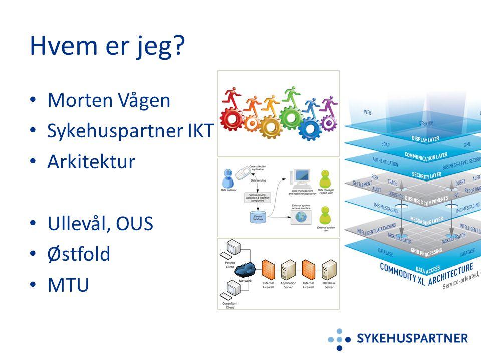 Hvem er jeg Morten Vågen Sykehuspartner IKT Arkitektur Ullevål, OUS