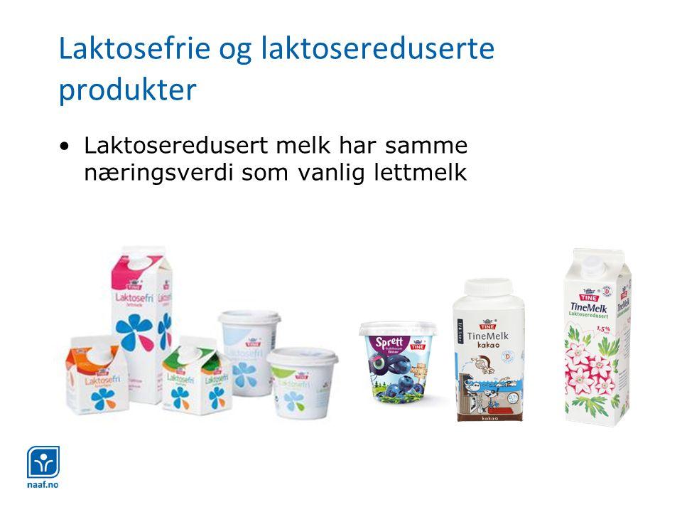 Laktosefrie og laktosereduserte produkter