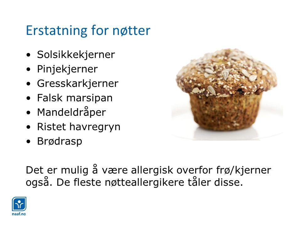 Erstatning for nøtter Solsikkekjerner Pinjekjerner Gresskarkjerner