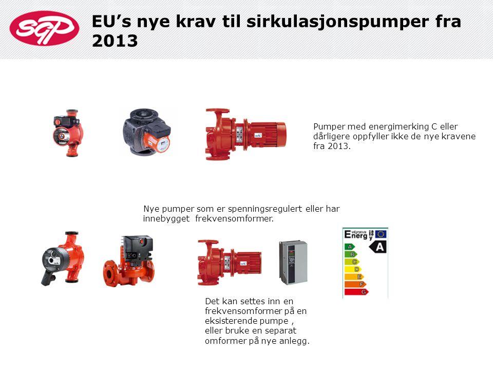 EU's nye krav til sirkulasjonspumper fra 2013