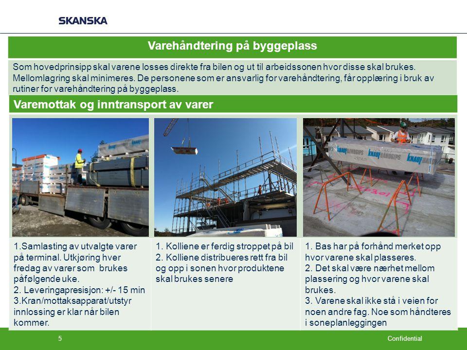 Varehåndtering på byggeplass
