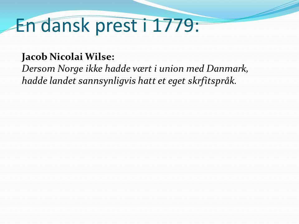 En dansk prest i 1779: Jacob Nicolai Wilse: